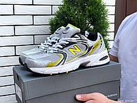 Кросівки чоловічі демісезонні в стилі New Balance Abzorb 530, сітка, сіре з жовтим, фото 1