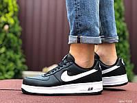 Мужские демисезонные кроссовки в стиле Nike Air Force, черно белые Найк Аир Форс, фото 1