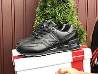 Кроссовки демисезонные мужские в стиле New Balance 574, черные, фото 1