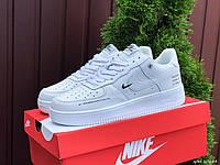 Женские демисезонные кроссовки в стиле Nike Air Force, белые Найк Аир Форс, фото 1