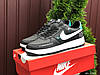 Жіночі демісезонні кросівки в стилі Nike Air Force, чорні з білим \ м'ятним Найк Аір Форс