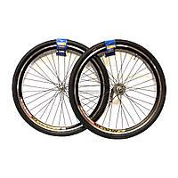 """Комплект колес (вилсет) 28"""" ALx2 на втулке VELOSTEEL с резиной"""