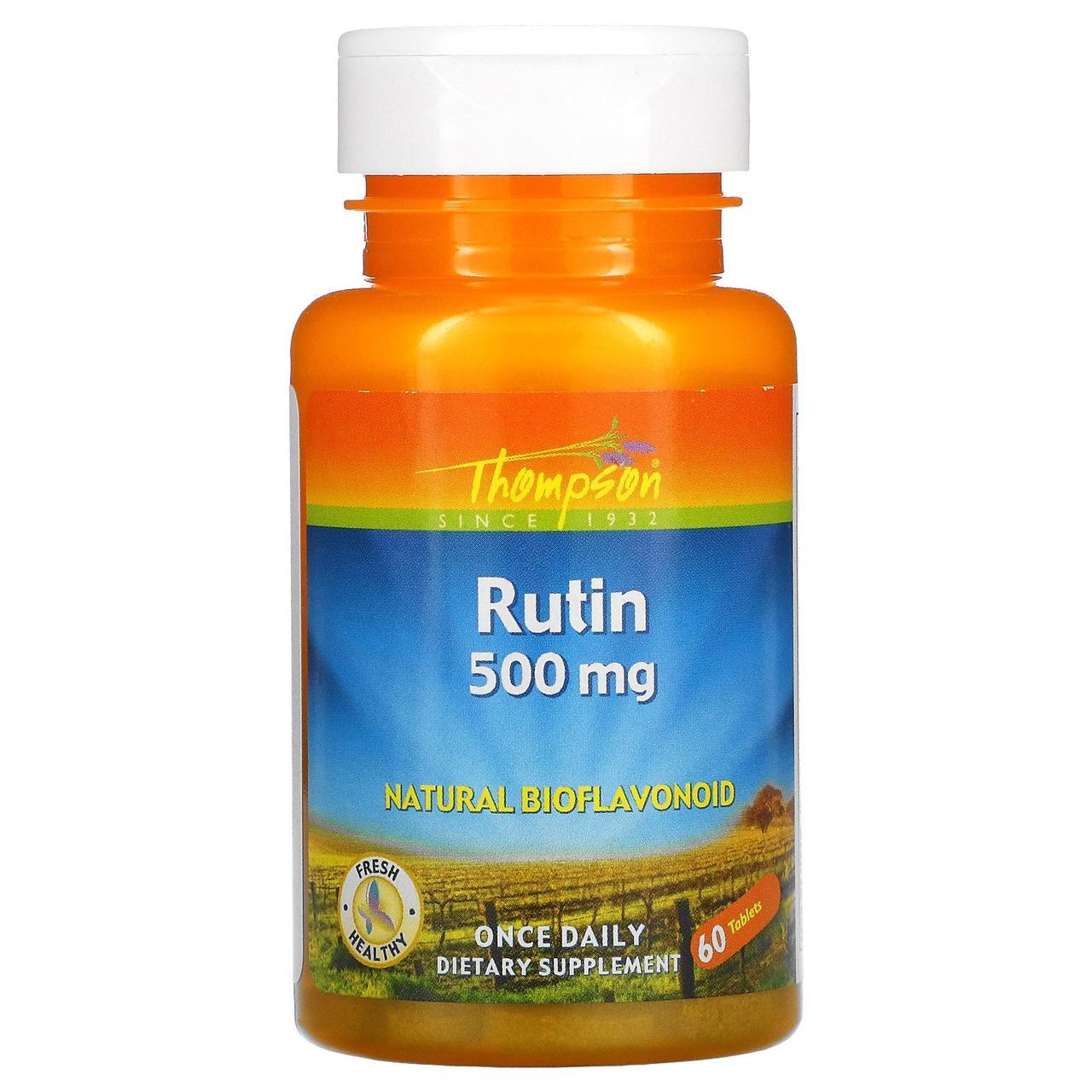 Рутин, Thompson, 500 мг, 60 таблеток