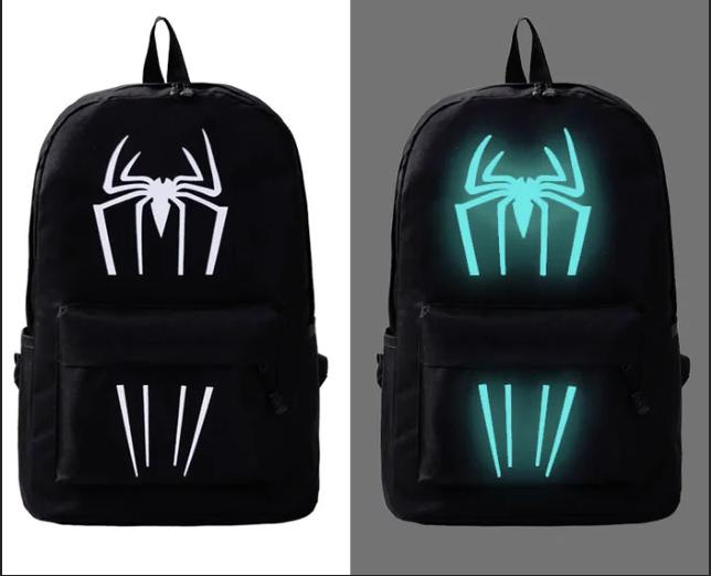 Шкільний рюкзак з ілюмінацією світиться в темряві принт Павук