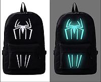 Шкільний рюкзак з ілюмінацією світиться в темряві принт Павук, фото 1