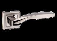 """Дверная ручка на розетке MVM """"TEZA"""" Z-1325 BN/SBN (черный никель/матовый черный никель)"""