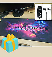 Великий гейморський килимок для миші Counter-Strike авм (гральна поверхня cs go) 80*30 см