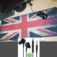 Ігровий килимок для миші прапор (ігрова поверхня), Геймерський килимок 80*30 див. килимок під клавіатуру