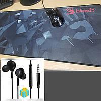 Килимки для миші. Ігровий килимок для миші A4TECH (ігрова поверхня), Геймерський килимок 80*30 червона рука