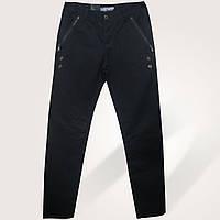 Мужские зауженные джинсы чёрного цвета