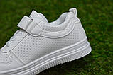 Стильні дитячі білі кросівки кеди р31-35, фото 4