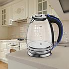Електрочайник дисковий скляний з внутрішнім підсвічуванням, Maestro MR-054, 1,7 л, 2200Вт., фото 2
