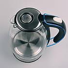 Електрочайник дисковий скляний з внутрішнім підсвічуванням, Maestro MR-054, 1,7 л, 2200Вт., фото 5