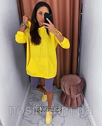 Туніка-худі спортивна з капюшоном На ріст від 160см в стилі ОVERSIZE