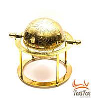 Настольный бронзовый глобус