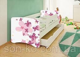 Кровать детская Бабочки без шухляды. Бесплатная доставка