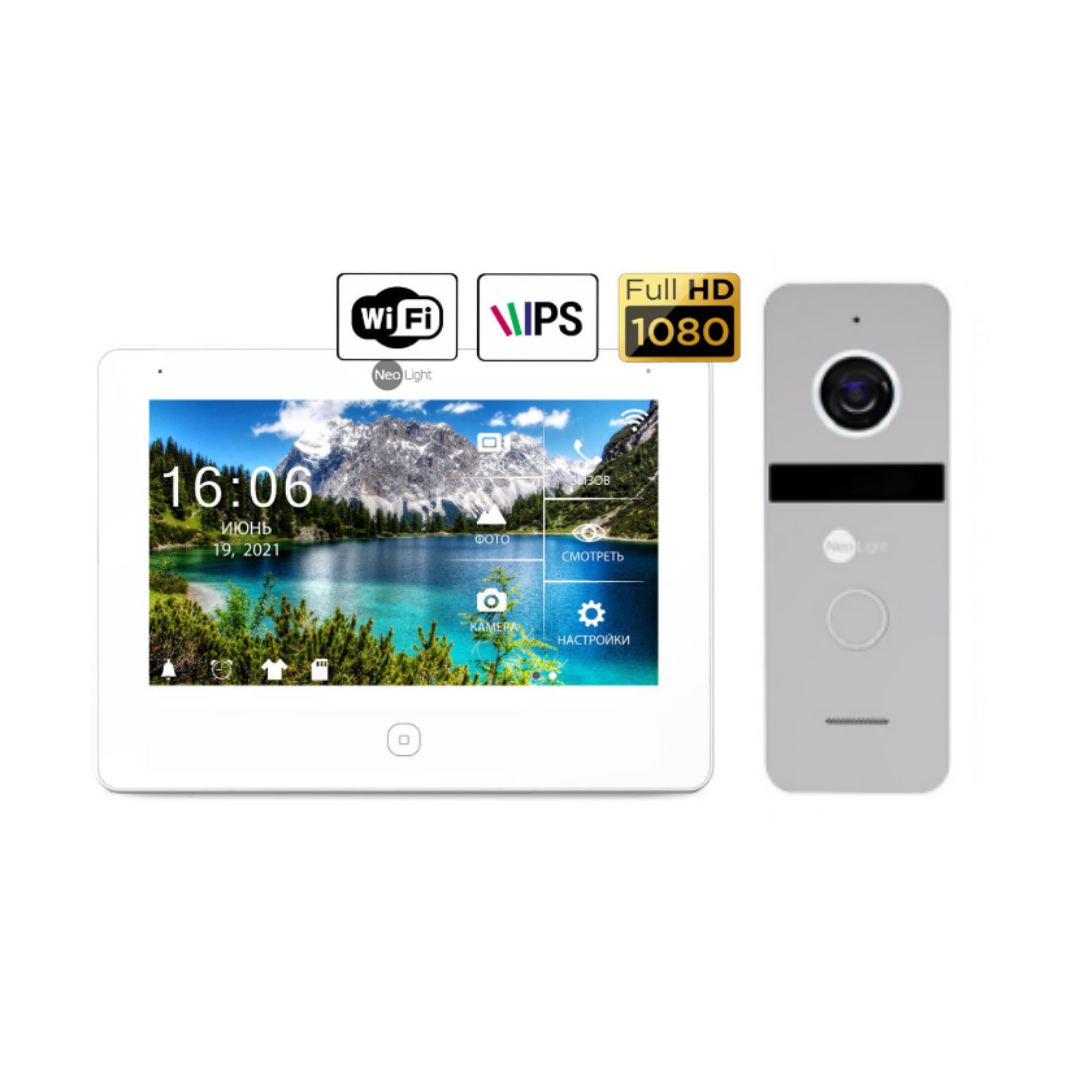 Комплект видеодомофона NeoLight  NeoKIT HD Pro WF Silver