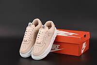 """Кросівки жіночі шкіряні Nike Air Force """"Персикові"""" р. 36-40, фото 1"""