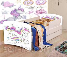 Кровать детская Единорог без шухляды. Бесплатная доставка
