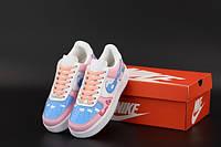 """Кроссовки женские кожаные Nike Air Force """"Свинка Пеппа"""" р. 36-40, фото 1"""