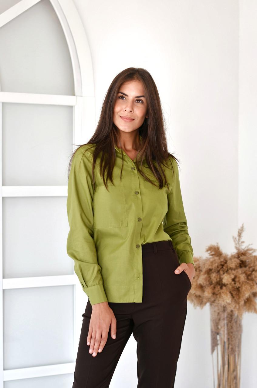 Жіноча сорочка олива
