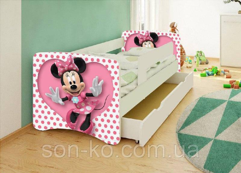 Ліжко дитяче Мінні Маус без ящика. Безкоштовна доставка