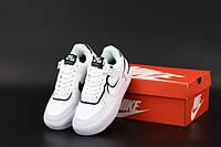 """Кроссовки женские кожаные Nike Air Force """"Белые"""" р. 36-39, фото 1"""