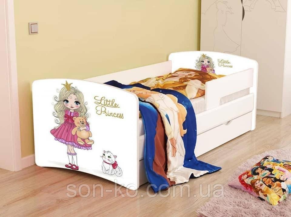 Ліжко дитяче Маленька Принцесса без ящика. Безкоштовна доставка