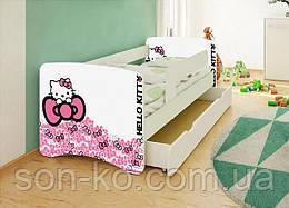 Кровать детская Хеллоу Китти без шухляды. Бесплатная доставка
