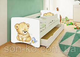 Кровать детская Мишка без шухляды. Бесплатная доставка