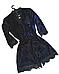 Женский домашний халатик велюровый с выбитым рисунком на запах с поясом Gull M08, фото 3