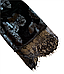 Женский домашний халатик велюровый с выбитым рисунком на запах с поясом Gull M08, фото 5