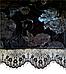Женский домашний халатик велюровый с выбитым рисунком на запах с поясом Gull M08, фото 6