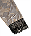 Женский домашний халатик велюровый с выбитым рисунком на запах с поясом Gull M08, фото 7
