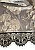 Женский домашний халатик велюровый с выбитым рисунком на запах с поясом Gull M08, фото 8