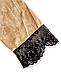 Женский домашний халатик велюровый с выбитым рисунком на запах с поясом Gull M08, фото 9