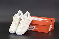 """Кросівки жіночі шкіряні Nike Air Force """"Молочні"""" р. 36-40, фото 1"""
