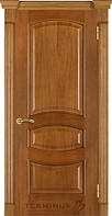 Двері Термінус №50 дуб,дуб тонований, даймон (вітраж, глуха)