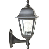 Светильник НБУ 04 Алюминиевый НС04 (бра верх-низ)прозр. стекло черный