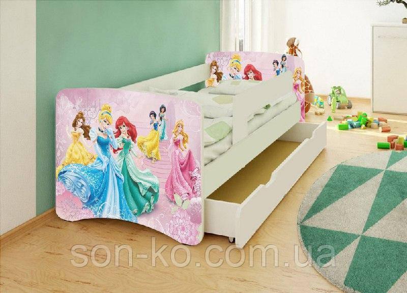 Кровать детская Принцессы Дисней без шухляды. Бесплатная доставка