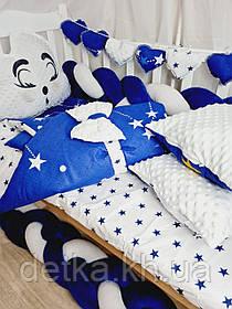 """Дитячий постільний комплект в ліжечко, """"Avangard"""" , ковдра-конверт"""