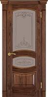 Двері Термінус №50 горіх американський (вітраж, глуха)