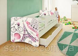 Кровать детская Париж без шухляды. Бесплатная доставка