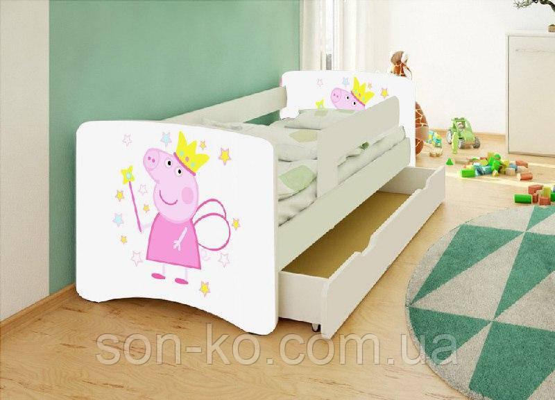 Ліжко дитяче Свинка Пеппа без ящика. Безкоштовна доставка