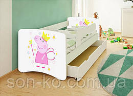 Кровать детская Свинка Пеппа без шухляды. Бесплатная доставка