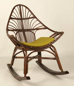 Плетене крісло-качалка Cruzo Нуо з ротанга на полозах