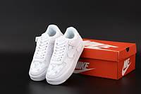 """Кроссовки женские кожаные Nike Air Force """"Белые LV"""" р. 36-40, фото 1"""