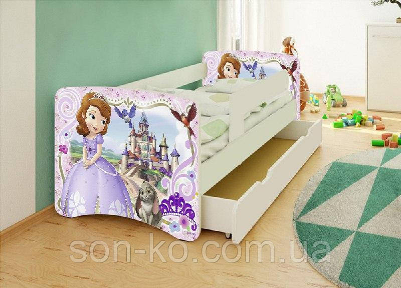 Ліжко дитяче Принцесса София без ящика. Безкоштовна доставка