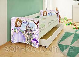 Кровать детская Принцесса София без шухляды. Бесплатная доставка