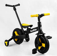 Трехколесный велосипед Детский велосипед беговел трансформер для детей Велосипед съемные педали цвет желтый